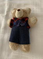 Buy Vintage 1986 Cabbage Patch Furskins Appalachian Artwork 7 Inch Teddy Bear