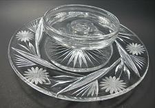 Buy American Brilliant Period hand Cut Glass chip n dip