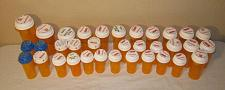Buy 34 Empty Amber RX Pill Prescription Bottles / Assorted Sizes with Lids