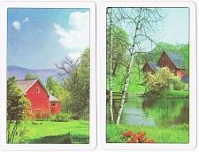 Buy Litho USA Playing Cards Red Barn Double Deck Vintage