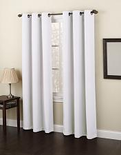 """Buy No. 918 Montego Casual Textured Grommet Curtain Panel, 48"""" x 84"""", White"""