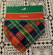 Buy Brand New Dog Bandana SMALL Plaid Design For Dog Rescue Charity