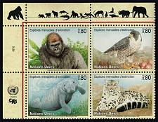 Buy UN Geneva #231a Endangered Species Block of 4; MNH (5Stars) |UNG231a-01XVA