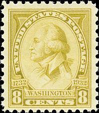 Buy 1932 8c Washington, Charles B. J. F. Saint Memin, Olive Scott 713 Mint F/VF NH