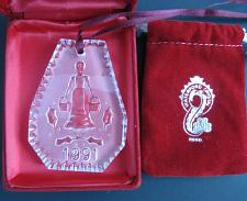 Buy 1991 #Waterford glass Christmas ornament decoration 8 maids a Milking