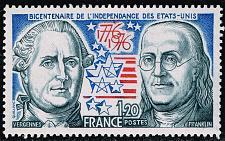 Buy France #1480 Count de Vergennes and Benjamin Franklin; MNH (5Stars)  FRA1480-01XDP