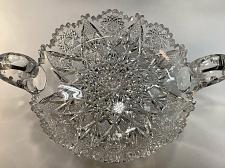Buy ABP cut glass Expanding star handled dish antique crystal