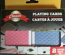 Buy SET OF 2 PACK (2 Blue , 2 Red ) NEW DECKS CLASSIC GAMES PLAYING CARDS .