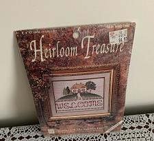 Buy Brand New Welcome Cottage Counted Cross Stitch Kit Heirloom Treasures 8x10