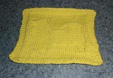 Buy Brand New Hand Knit Pomeranian Dog Yellow Cotton Dish Cloth 4 Dog Rescue Charity