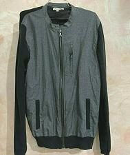 Buy calvin Klein jeans front nylon Knit cotton back and sleeves Jacket