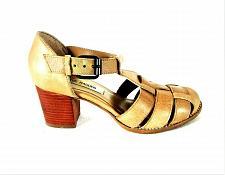 Buy Steve Madden Beige Fanniee Leather Block Heels Sandals Shoes Women's 7 M (SW7)