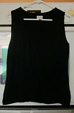 Buy Chicos Sleeveless Top Classy Black Stretchy Rayon Blend Scoop Neck Medium M 1