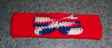 Buy Brand New Crocheted Patriotic Bow Tie Dog Collar LARGE For Dog Rescue Charity
