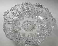 Buy ABP hand Cut Glass mouth blown crimped crystal bowl wheel polished