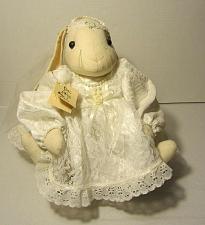 "Buy Vintage Country Stuffed Muslin Cloth Floppy Ear Bride Bunny Rabbit Handmade 14"""