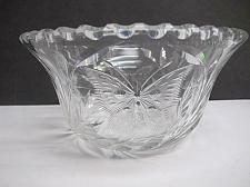Buy ABP cut glass bowl American brilliant blown blank intaglio butterfly