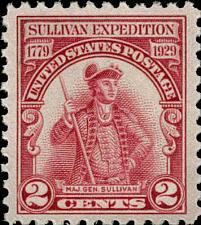 Buy 1929 2c Major General Sullivan Expedition Scott 657 Mint F/VF NH