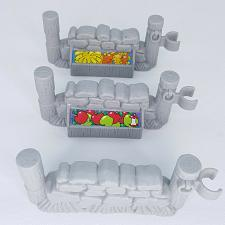 Buy Fisher Price Little People Farm Fruit Stand Fence Stone Wall Gray 2003