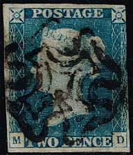 Buy Great Britain #2 Queen Victoria; Used (2Stars) |GBR0002-01XDP