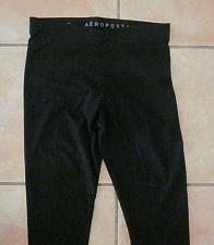 Buy Aeropostale Women Black Leggings Active Athletic Pants Medium M