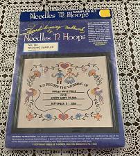 Buy Brand New Embroidery Kit 145 Needles N Hoops 14 x 17 Wedding Sampler 4 Charity