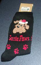 Buy Brand New Santa Paws Design Size 9 to 11 Ladies Crew Socks 4 Dog Rescue Charity