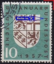 Buy GERMANY BUND [1957] MiNr 0249 F35 ( O/used ) [01] Plattenfehler