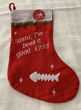 Buy Brand New Cute Cat Design Good Kitty Christmas Stocking For Dog Rescue Charity