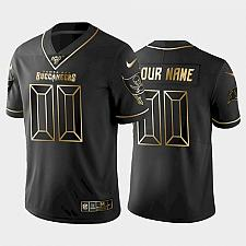 Buy Men's Buccaneers Custom NFL 100 Golden Edition Vapor Limited Jersey -