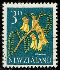 Buy New Zealand #337 Kowhai Flower; Used (3Stars) |NWZ0337-02