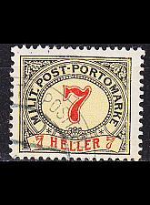 Buy ÖSTERREICH AUSTRIA [BosHerz Porto] MiNr 0007 C ( O/used )