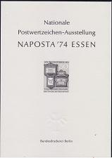 Buy GERMANY BUND [1974] MiNr 0825 SD ( oG/no gum ) [01] Post Schwarzdruck