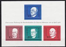 Buy GERMANY BUND [1968] MiNr 0554-57 Block 4 ( **/mnh )