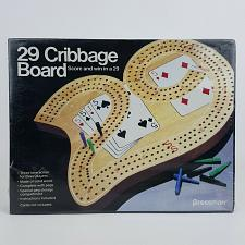 Buy 29 Cribbage Board 1029 Pressman 1983 Solid Wood 3 Track W/ Pegs Sealed 3 Players