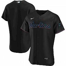 Buy Miami Marlins Black Alternate Authentic Team Jersey