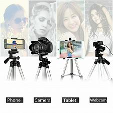 Buy Professional Camera Tripod Stand Mount + Phone Holder for Cell Phone iPhone XS