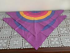 Buy Two Brand New Purple Rainbow Circle Design Dog Bandanas For Dog Rescue Charity
