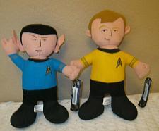 "Buy Star Trek Spock & Kirk Buddy Plush 9.5"" Toy Factory"