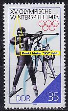 Buy GERMANY DDR [1988] MiNr 3143 F13,I ( **/mnh ) Plattenfehler