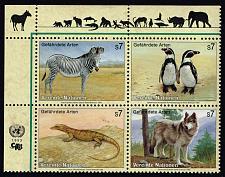 Buy UN Vienna #146a Endangered Species Block of 4; MNH (4Stars) |UNV146a-01XVA