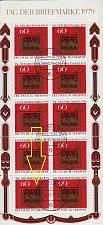 Buy GERMANY BUND [1979] MiNr 1023 Kleinbogen F9 ( O/used ) [01] Briefmarken Plattenfehler