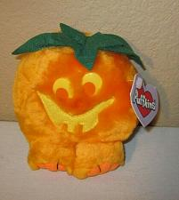"Buy PUFFINS ""Jack"" Pumpkin Halloween plush soft pvc pellets stuffed toy NEW"