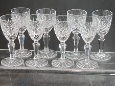 Buy 8 Ashford Signed Galway crystal port glass Crystal older Hand cut