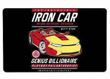 """Buy Iron Car Large Mouse Pad 10"""" x 16"""" Mat Placemat Pop Culture Inspired Nerdy Geeky"""