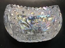 Buy L.E Smith Glass covered iridescent crystal oval bowl