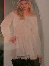 Buy Laced Blouse Renaissance Ivory Shirt Gypsy Peasant Adult Women Costume Top
