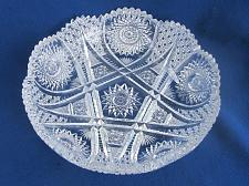 Buy American Brilliant Period Cut Glass low bowl Antique Sharp
