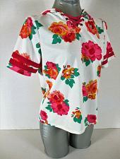 Buy BELLE DU JOUR girls XL S/S pink orange green TIE FRONT stretch HOODED top (C3)