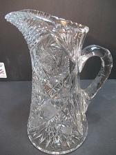 Buy American Brilliant Period Cut Glass pitcher Antique